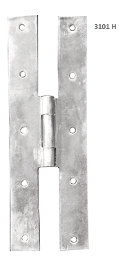 H hinge with forge-welded joints.